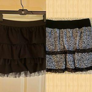 (2) IZ Amy Byer skirts